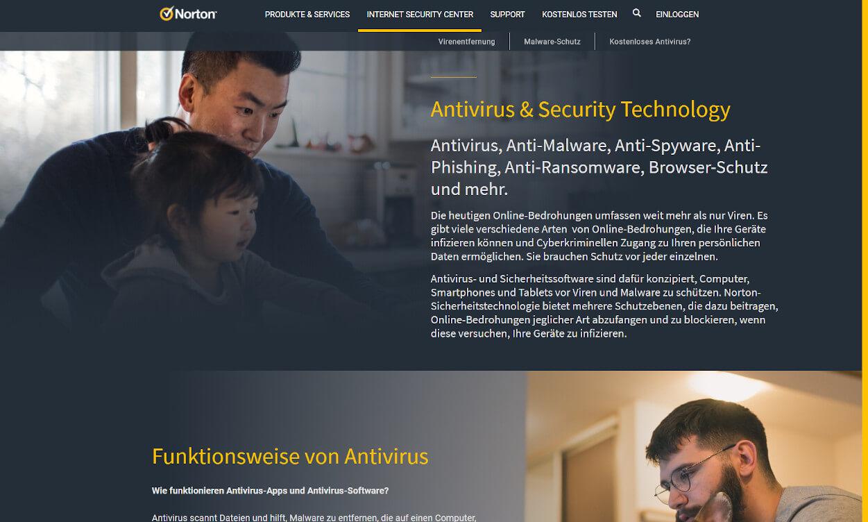 Norton Security Antivirus Test 2020.