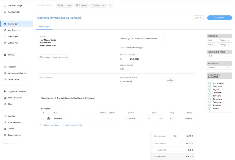 Erfahrungen zum Rechnungen schreiben mit Billomat 2020.
