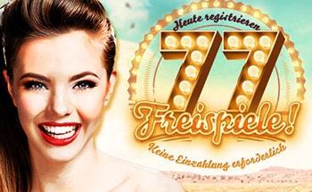 777 Casino Bonus von 77 Freispielen erhalten.