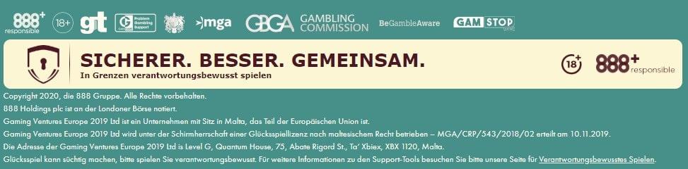 777 Casino allgemeine Informationen