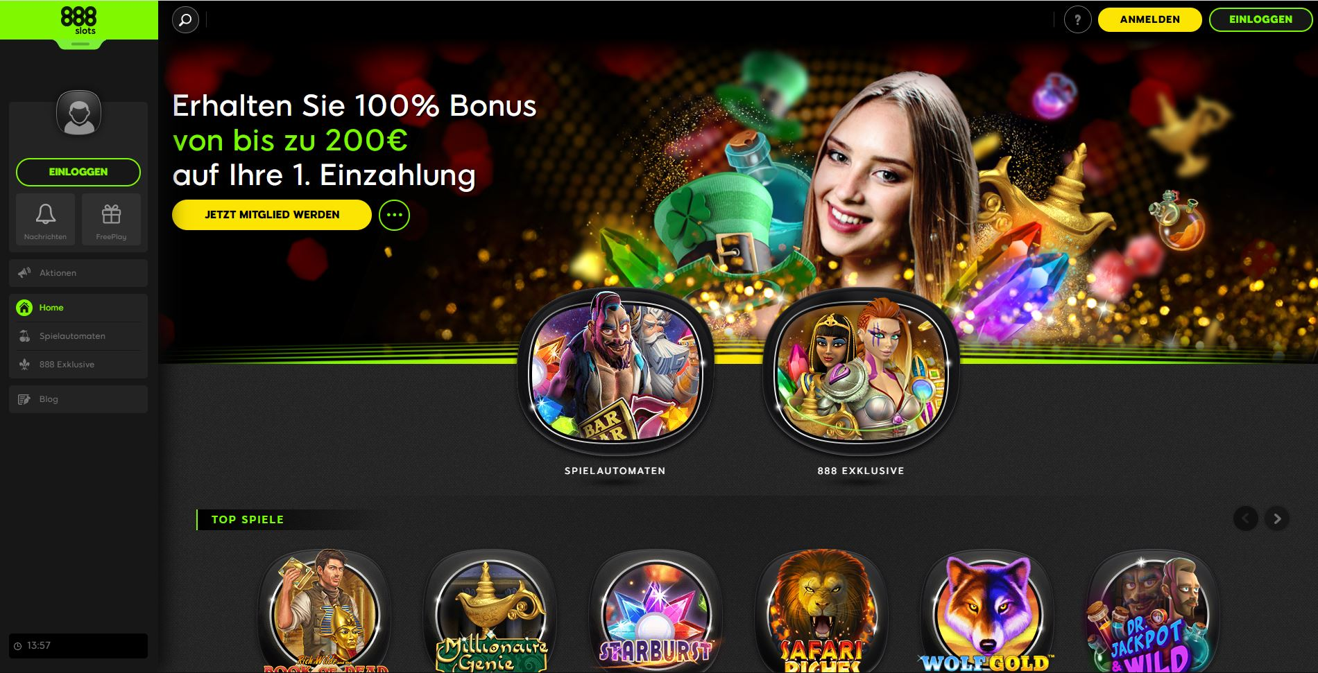 Unser Test der 888 Slots Webseite