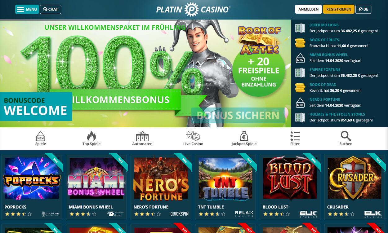 Platin Casino Test 2020.
