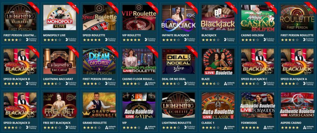 Platin Live Casino