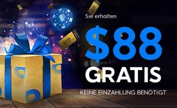 888poker Bonus von $88 Gratis erhalten.