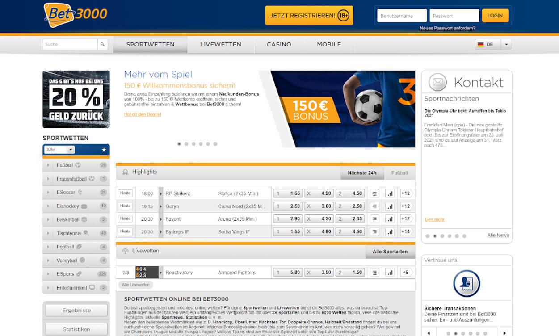 Bet3000 Sportwetten Test 2020.