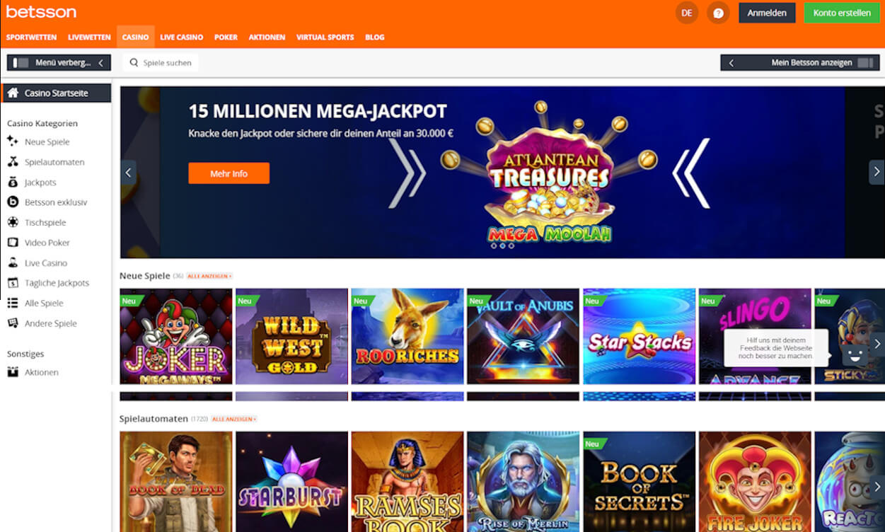 Betsson Casino Test 2020.