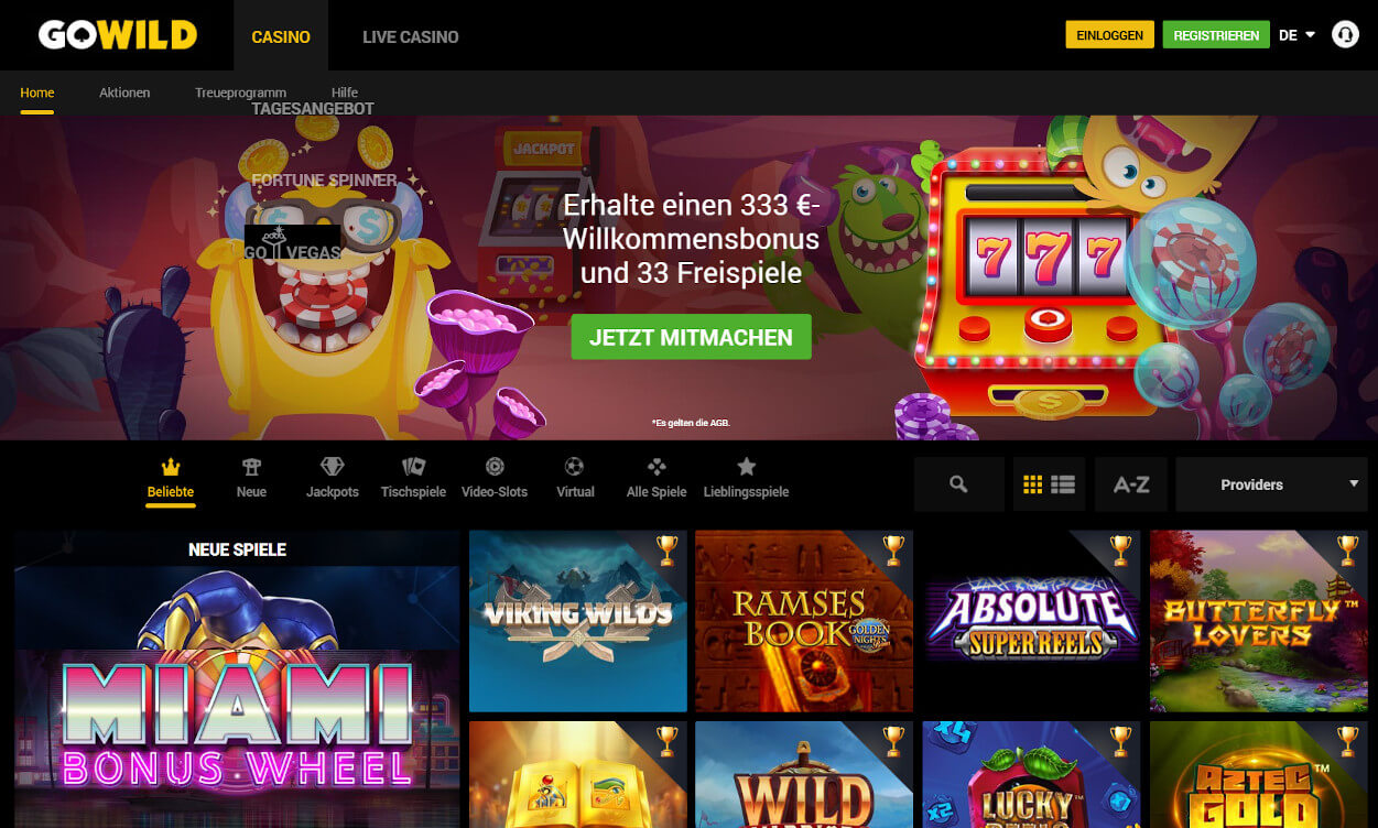 GoWild Casino Test 2020.