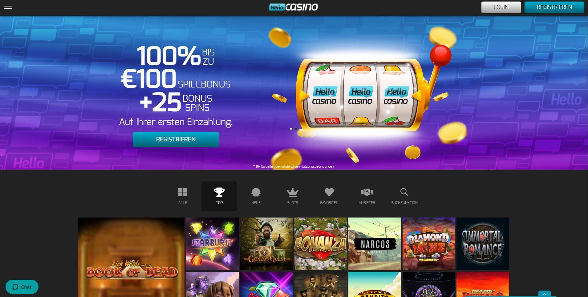 Hello Casino Test und Erfahrungen mit der Webseite