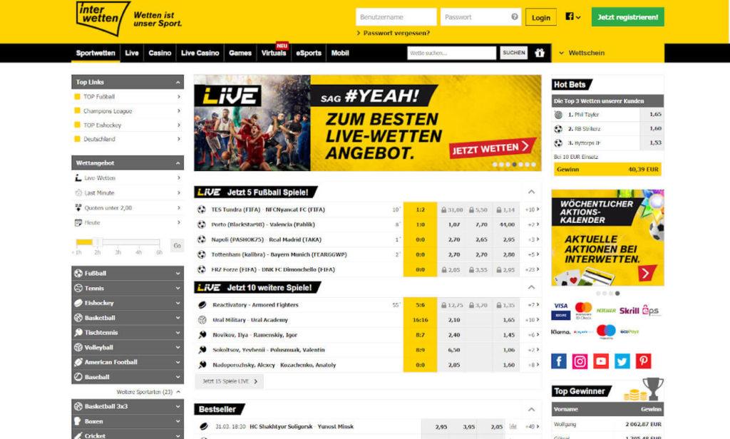 Interwetten Sportwetten Test 2020.
