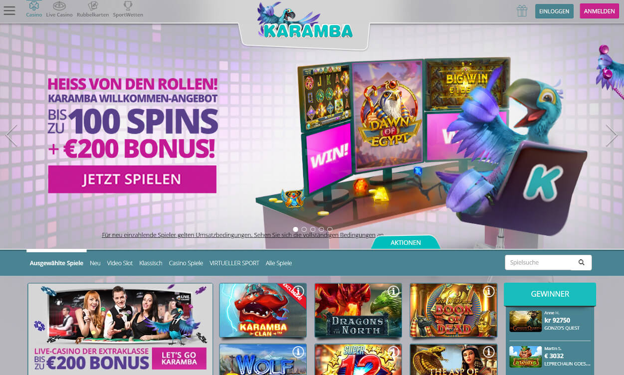 Karamba Casino Test 2020.