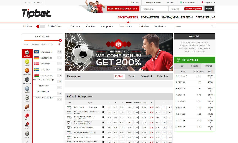 Tipbet Sportwetten Test 2020.