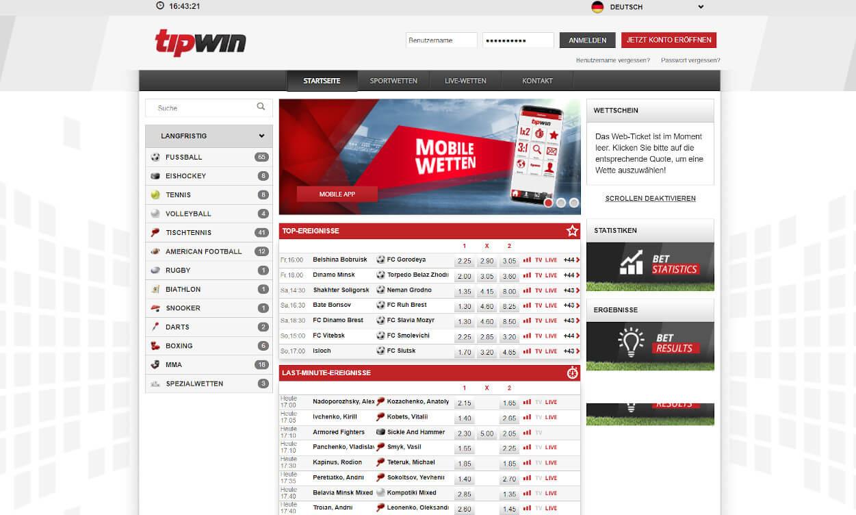 Tipwin Sportwetten Test 2020.