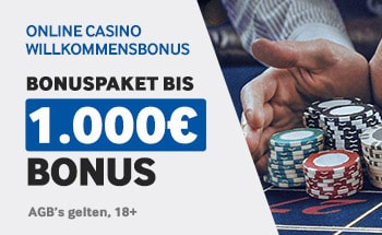 betway Casino Bonus von bis zu 1000€ erhalten.