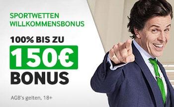 betway Sportwetten Bonus von 100% bis zu 150€ erhalten.