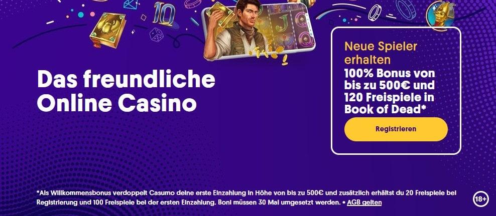 Casumo Casino Neukundenbonus
