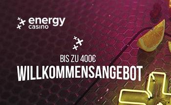 energy Casino Bonus von bis zu 400€ erhalten.
