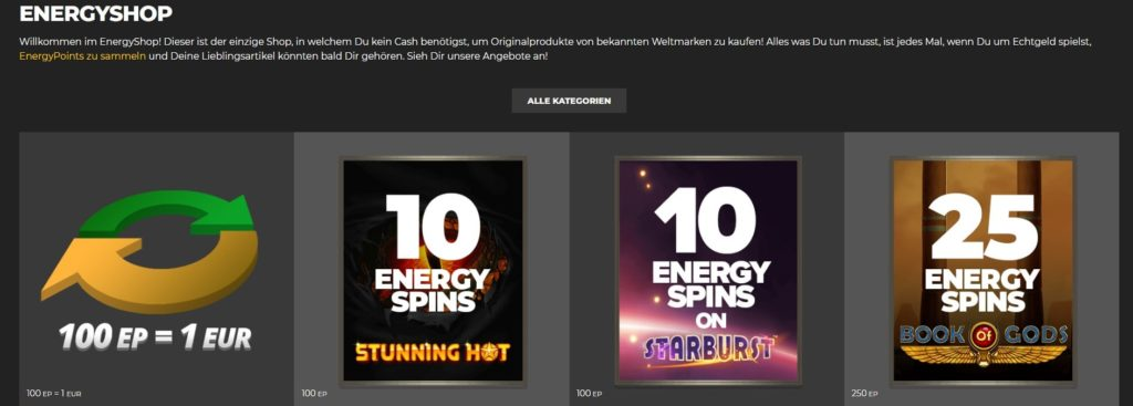 Energy Casino Shop