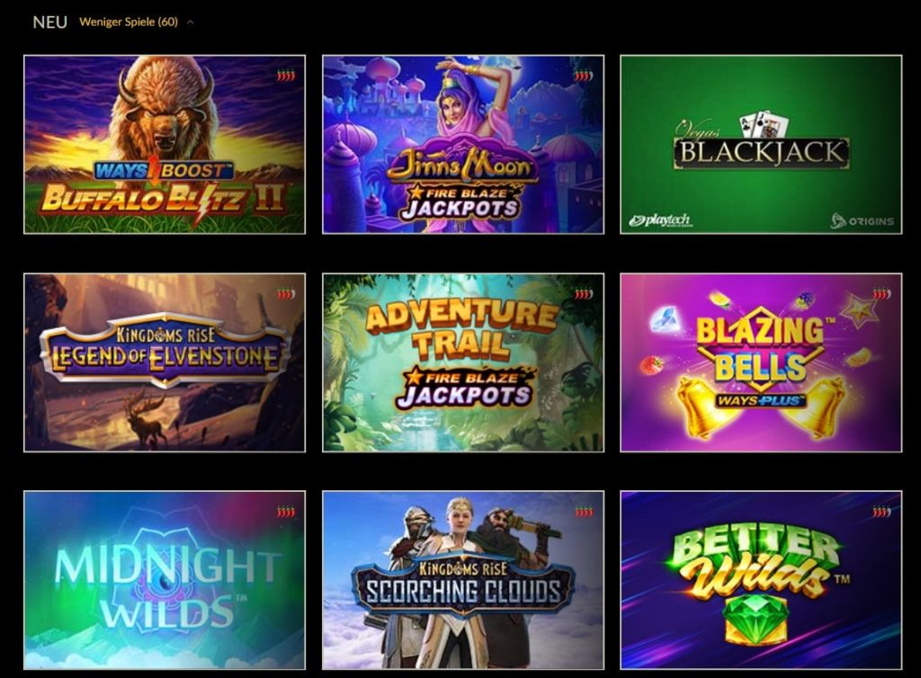 Eurogrand Casino Spielangebot