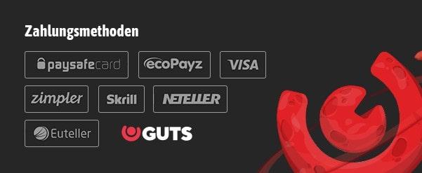 GUTS Zahlungsmethoden