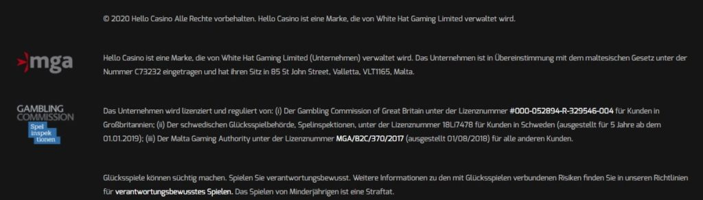 Hello Casino Sicherheit