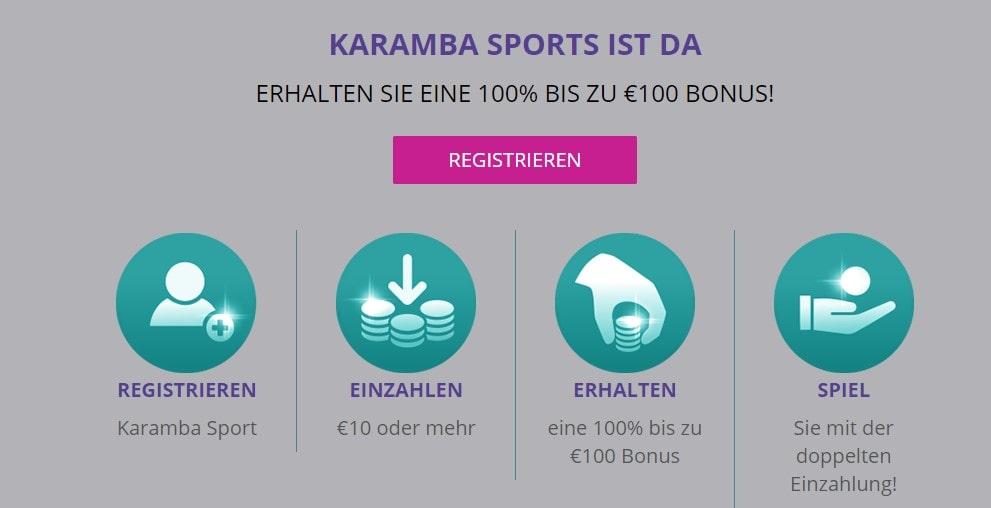 Karamba Sportwetten Neukundenbonus