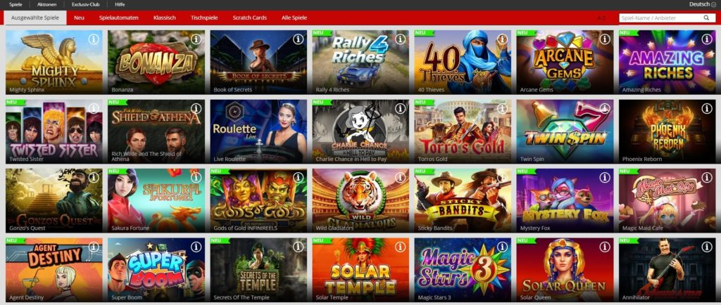 Magic Red Spielangebot Slots