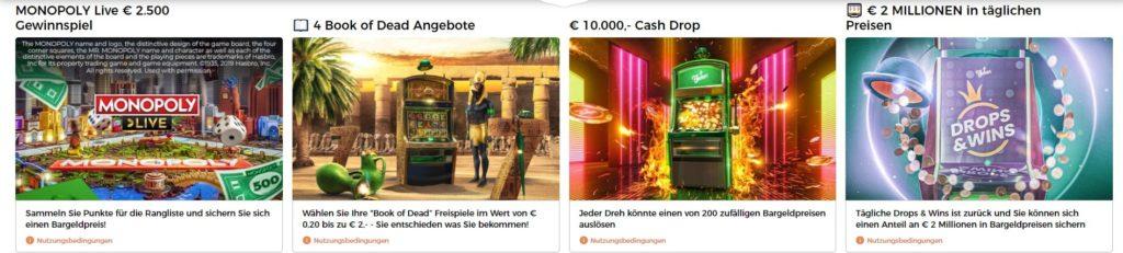 Mr Green Casino weitere Boni