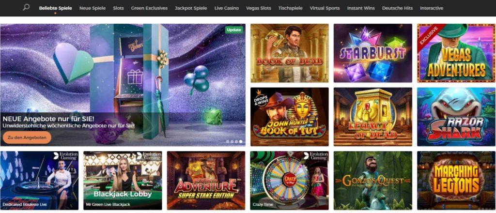 Mr Green Casino Spielautomaten