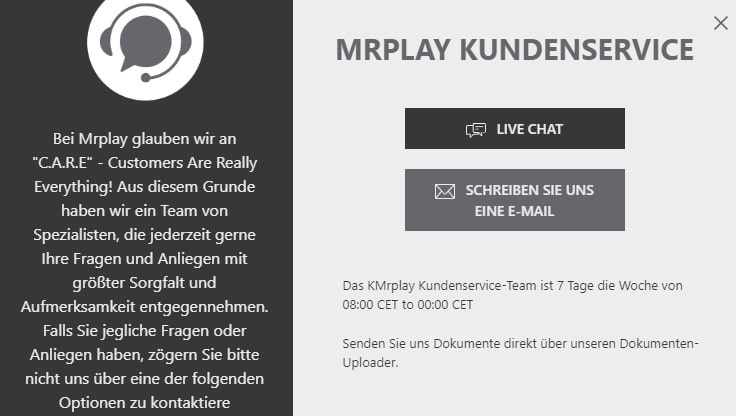 Mr.play Casino Kundenservice