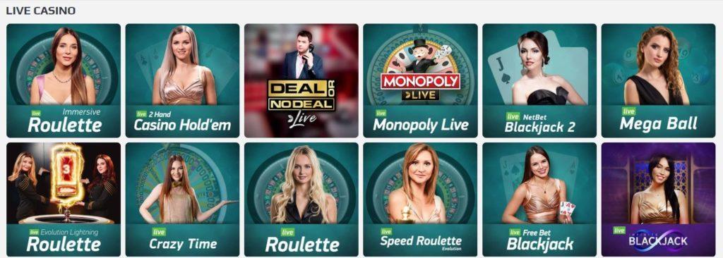 Netbet Casino Live Casino