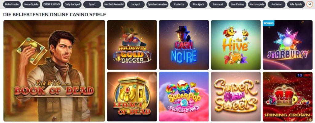 NetBet Casino Angebot