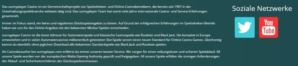 Sunnyplayer Casino Allgemeine Informationen