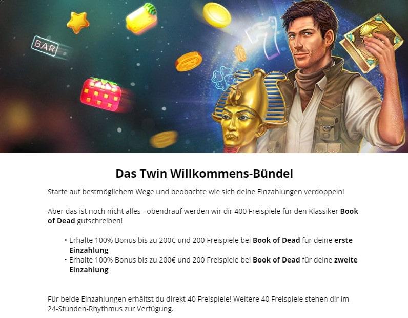 Twin Willkommensbonus