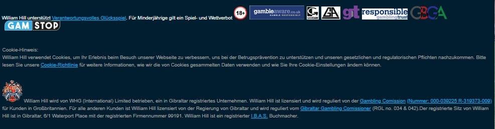 William Hill allgemeine Informationen