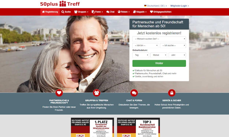 50 Plus Treff Partnerbörse Test 2020.