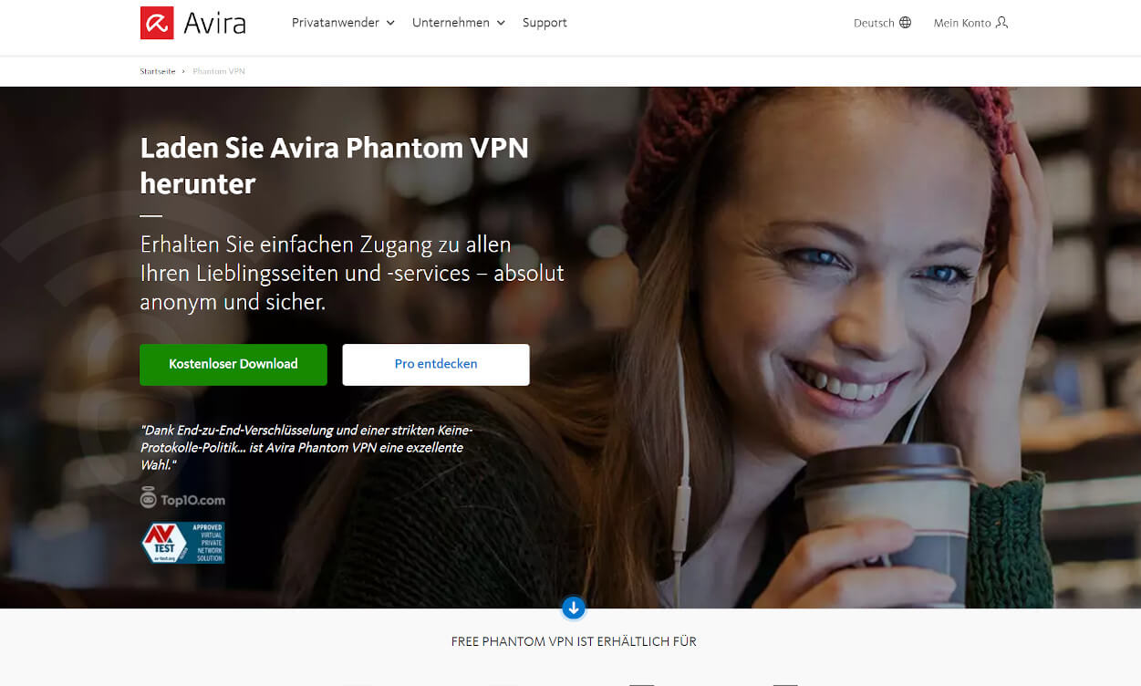 Avira VPN Test 2020.