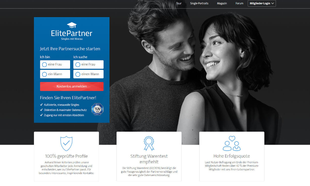 Elitepartner Partnerbörse Test 2020.