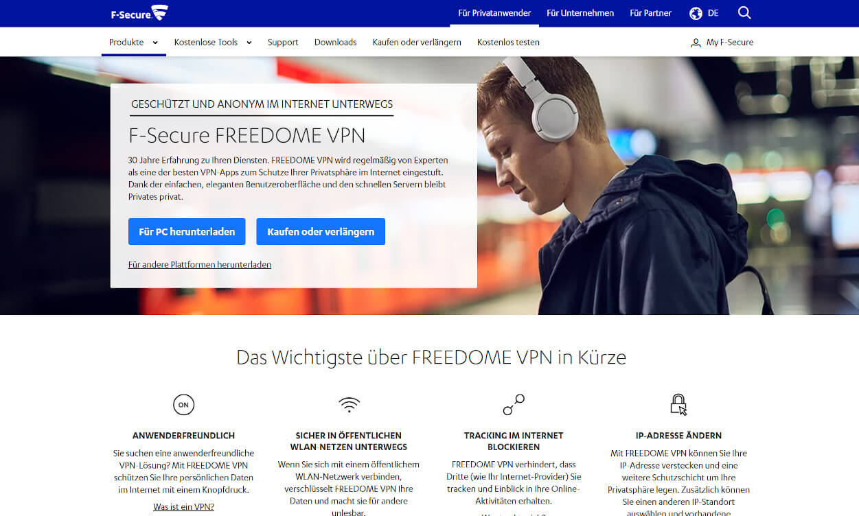 F-Secure FREEDOM VPN Test 2020.