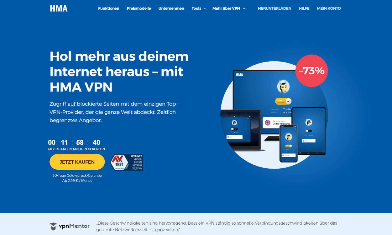 HideMyAss VPN Test 2020.