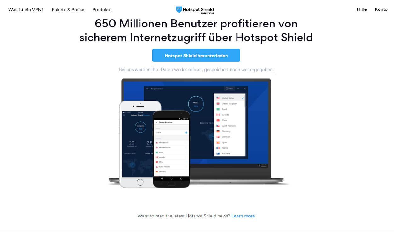 Hotspotshield VPN Test 2020.