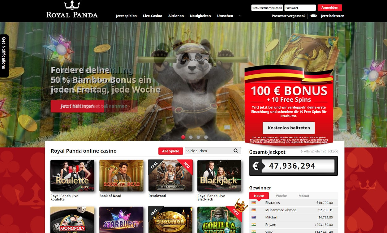 Royal Panda Casino Test 2020.