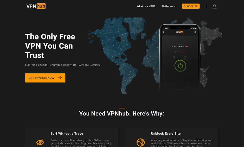 VPNhub Test 2020.