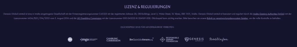Casino Gods allgemeine Informationen