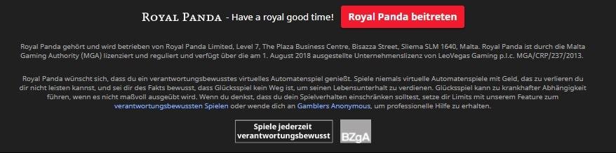 Royal Panda allgemeine Informationen