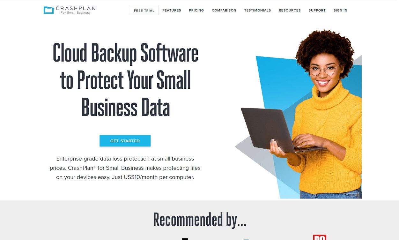 CrashPlan Cloud Speicher Webseiten Test 2020.