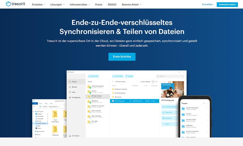 Tresorit Cloud Speicher Webseiten Test 2020.