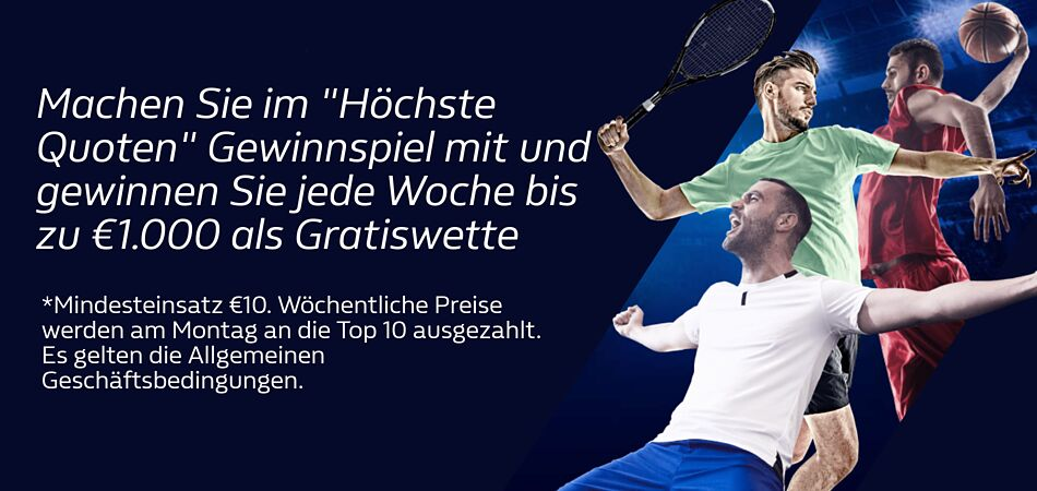 William Hill Quoten-Gewinnspiel