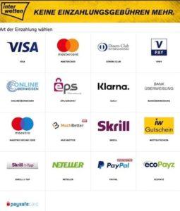 Interwetten Zahlungsmethoden