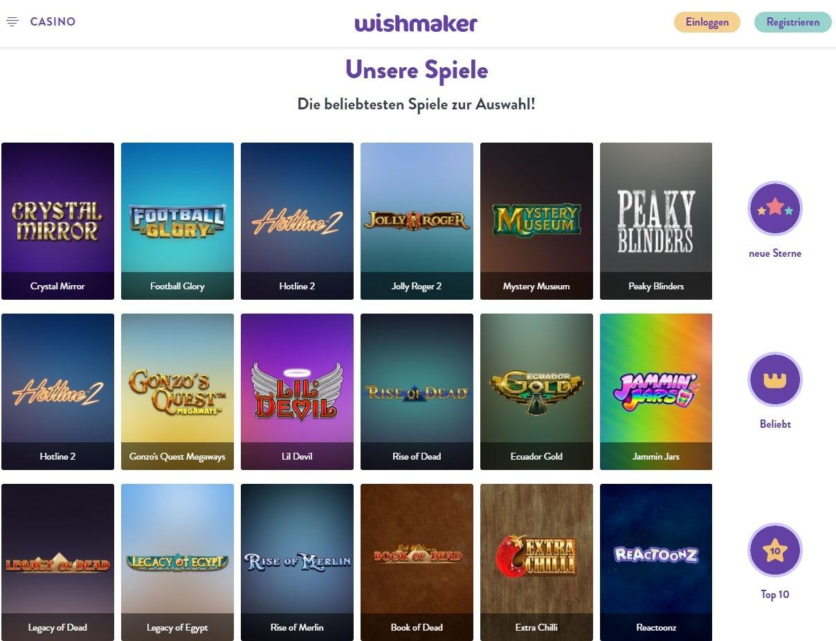 Wishmaker Casino Startseite