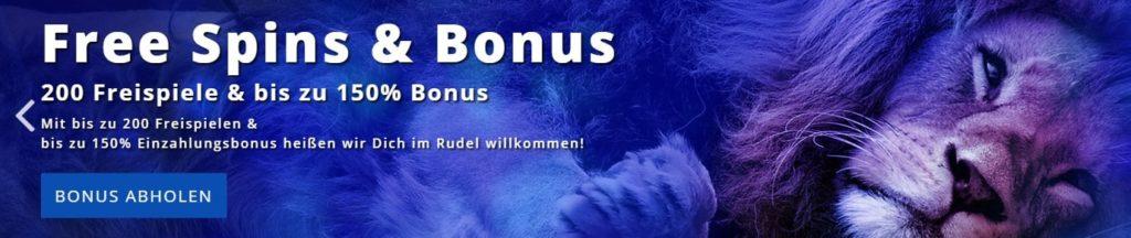 Löwen Play Slots Willkommensbonus